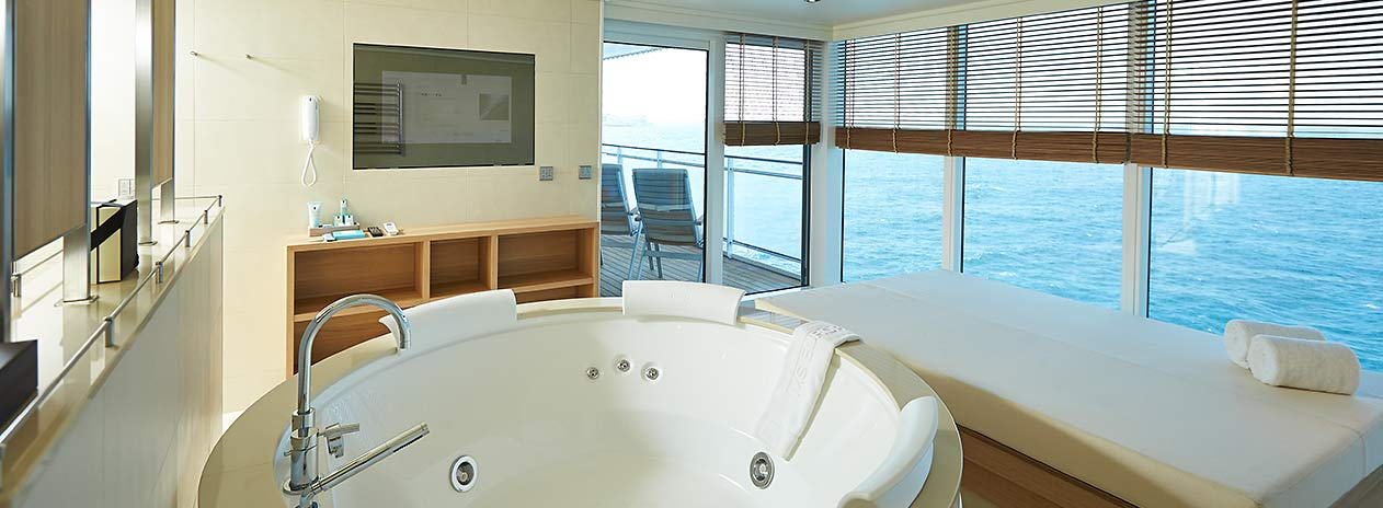 Owner Suite mit Whirlpool