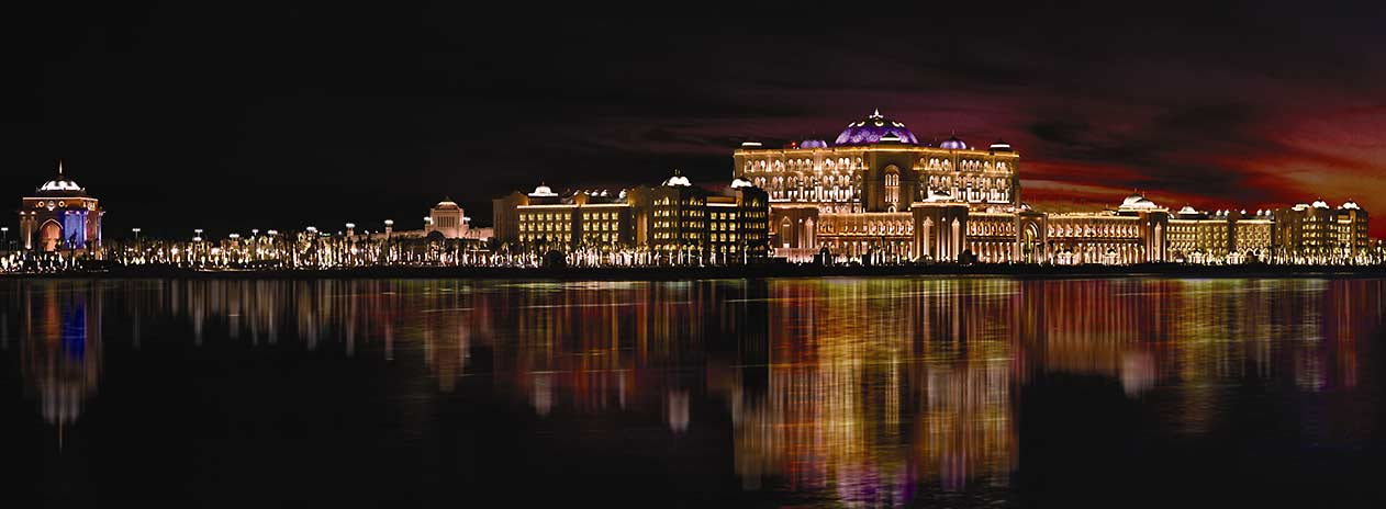 Emirates Palace at night