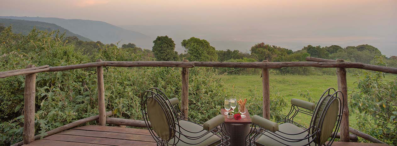 andBeyond Ngorongoro Crater Lodge Guestroom view